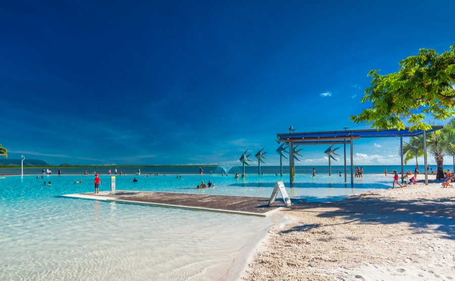 Cairns Lagoon – not a bad place to spend an afternoon while everyone back in the UK's got the heating on! Another reason for spending the British winter in Australia.