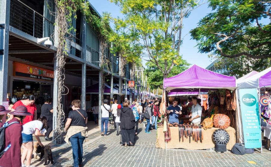 Little Stanley Street is one of the popular 'eat streets' in Brisbane. Nils Versemann / Shutterstock.com