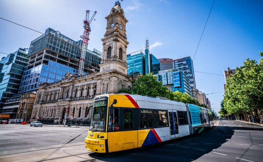 Adelaide has quite a comprehensive public transport system. Keitma / Shutterstock.com