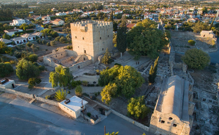 Kolossi has a small medieval castle and easy access to the beach | Winter sun in Cyprus