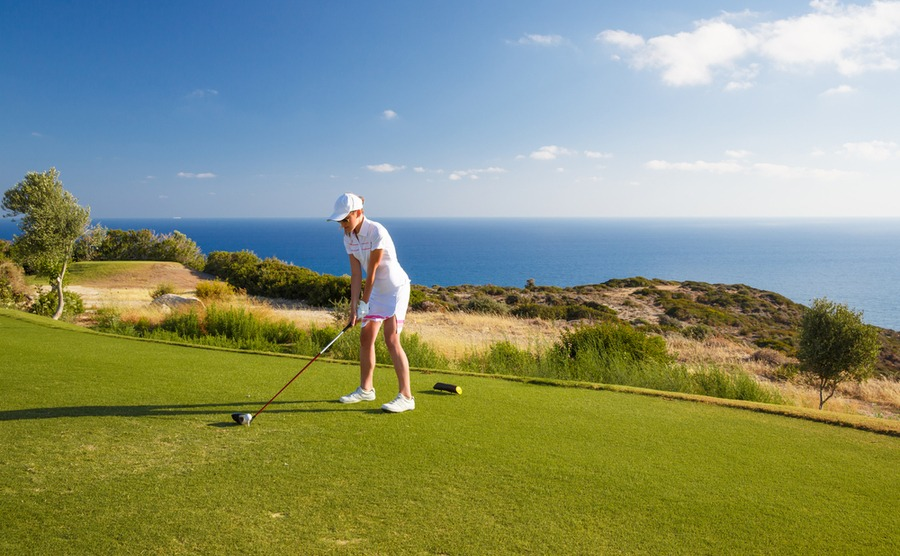 Among other hobbies in Cyprus, you'll find lots of golf courses on the island. Many are very popular among the British.