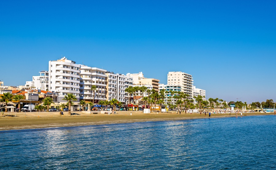Finikoudes Beach - Larnaka City, Cyprus