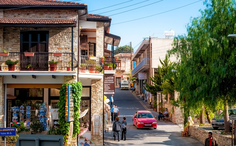 Lefkara may be a small village, but its shops are open and full of life year-round. kirill_makarov / Shutterstock.com | Winter sun in Cyprus