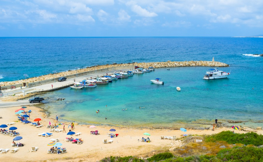 Peyia's beautiful beaches make it popular for expats | Winter sun in Cyprus