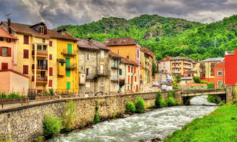 Buying in France - The Oriege river in Ax-les-Thermes - France, Midi-Pyrenees