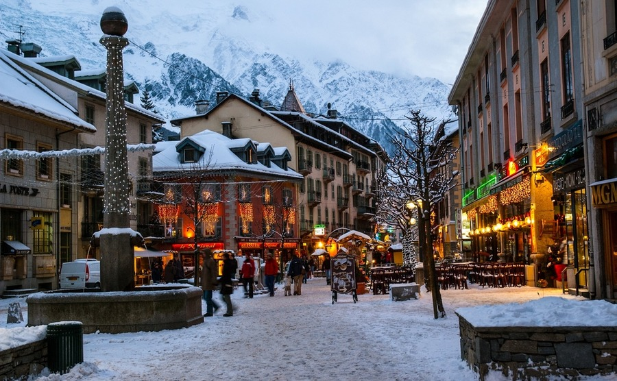 Chamonix is a charming French ski resort in the Alps.