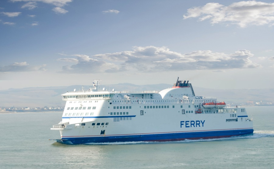 The ferry is a pleasant and green way to travel to France.