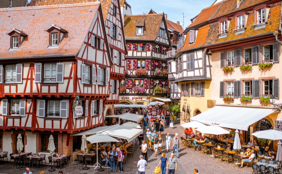 London to Colmar can take as little as 5hrs 20 in a train! RossHelen / Shutterstock.com