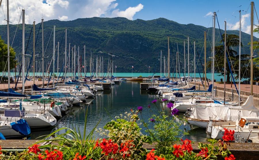 The Lac du Bourget in Aix-les-Bains.