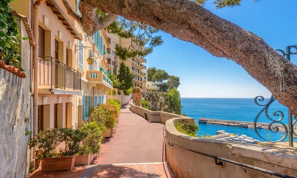 France - Street in Monaco Village in Monaco Monte Carlo, France