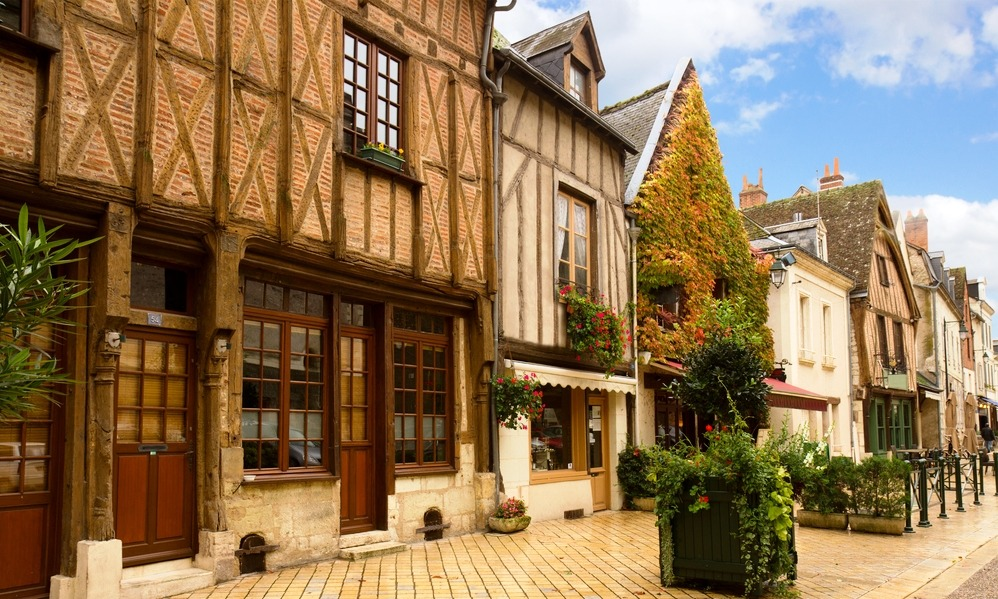 France - Wooden houses in France