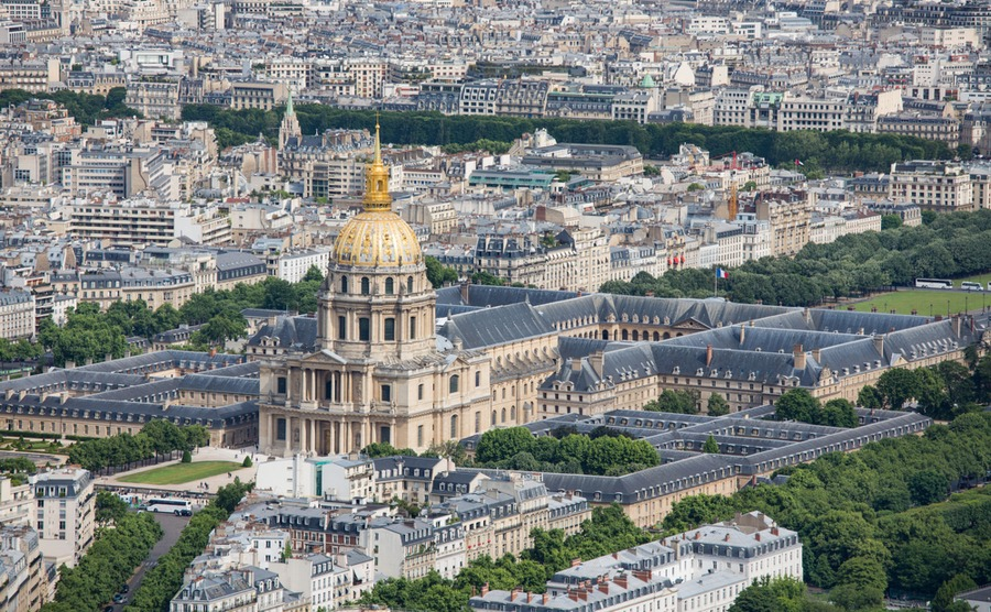 Les Invalides will host triathlon events.