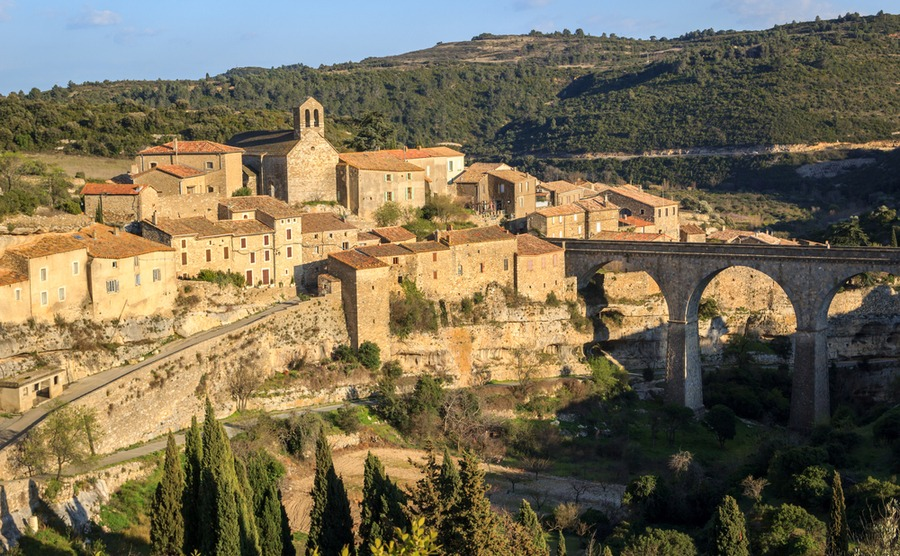 The ancient Cathar village of Minerve.