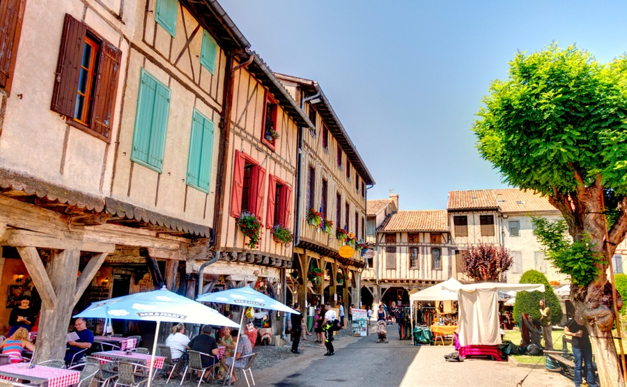 The square of the bastide town of Mirepoix.
