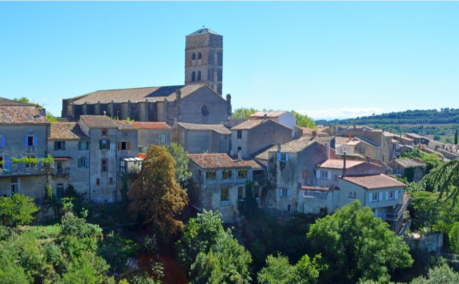 Montolieu offers fantastic views of the surrounding countryside.