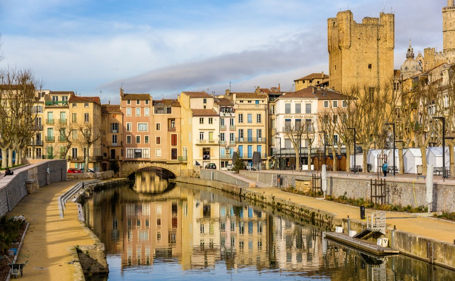 The historic city of Narbonne.