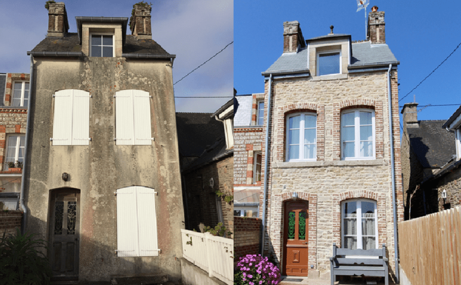 My house in Barfleur, before and after quite a bit of TLC!