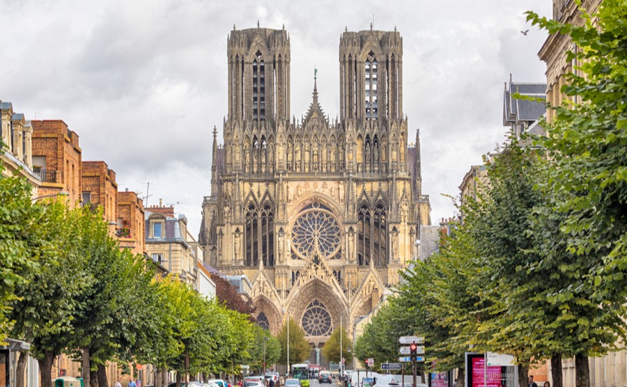 Reims is known for its champagne and its cathedral. Oliver Hoffmann  Shutterstock.com