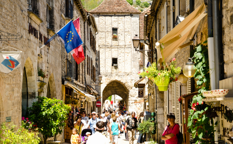 The lively village of Rocamadour. Spirit Stock / Shutterstock.com