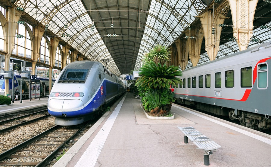 How realistic is taking the train as a method of green travel in France? Serjio74 / Shutterstock.com
