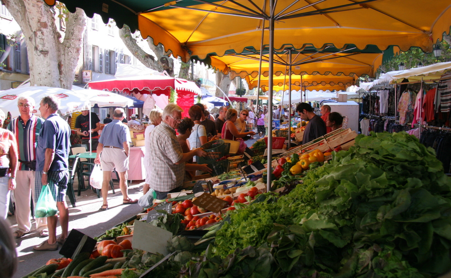 The market is an institution of French rural (and city) life. J.M.P.M. Seijger / Shutterstock.com