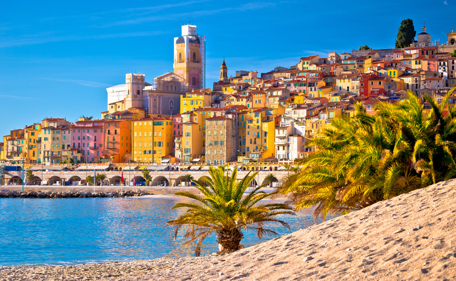The famous resort town of Menton.