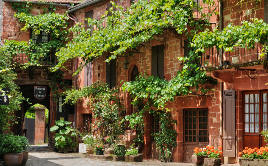 Collonges-la-Rouge is known for its picturesque red sandstone.