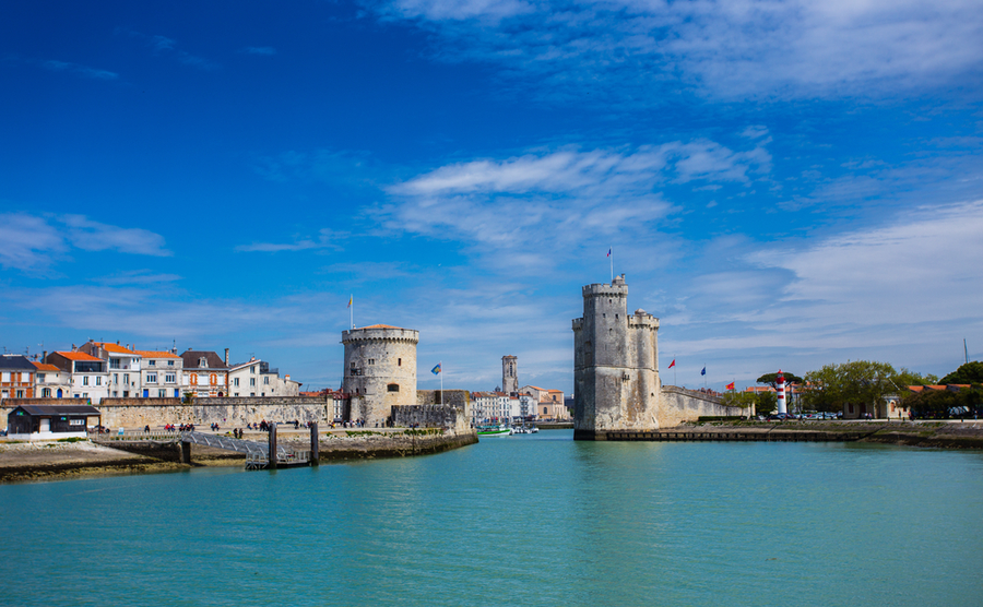 The famous harbour of La Rochelle.