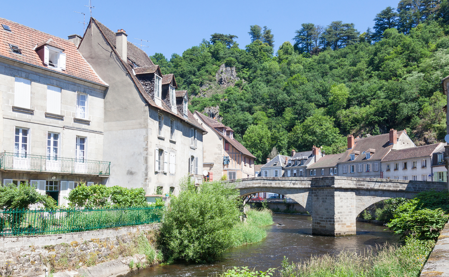 The Pont de Terrade in Aubusson.