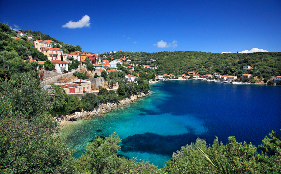 Kioni offers unbeatable views out across the sea | Where to buy property in Kefalonia