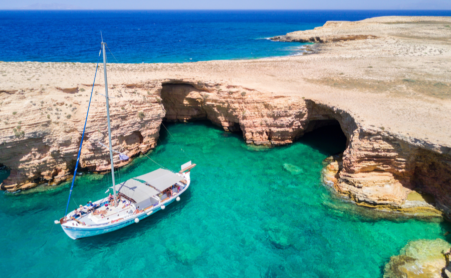 Take a boat and explore Koufonisia's many caves and coves.