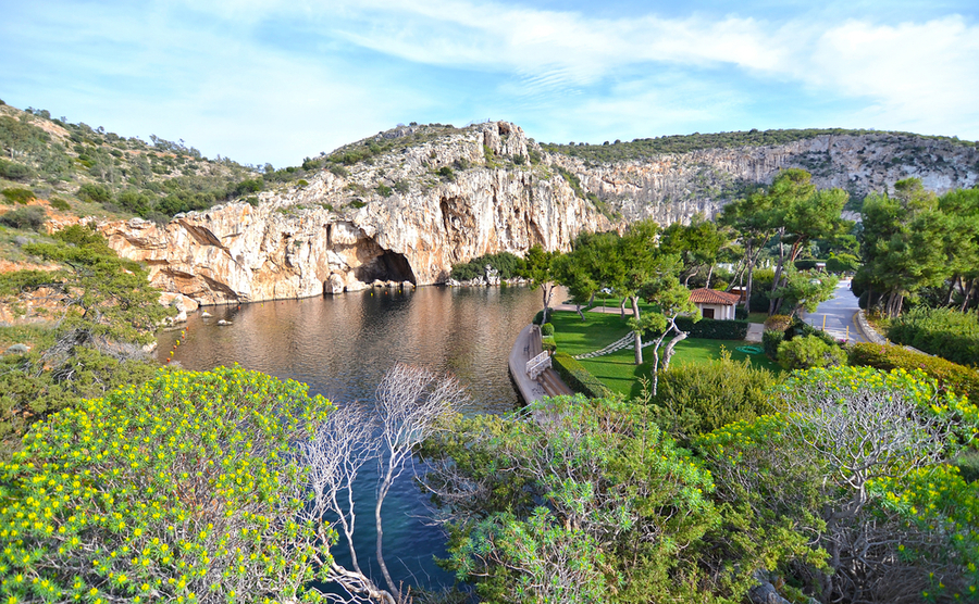 Lake Vouliagmenis, a wonderful place to live, less than an hour from Athens