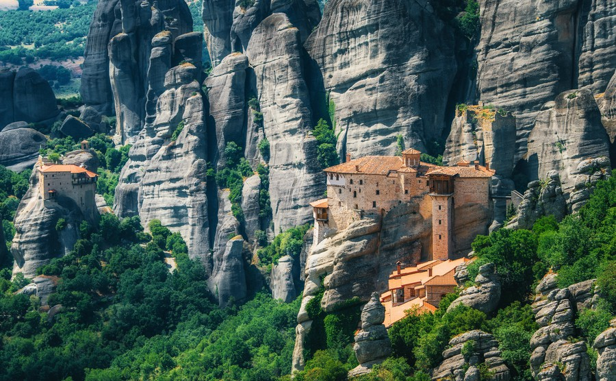This is Meteora in Central Greece – a perfect region if you're looking where to buy in Greece for peace and quiet.