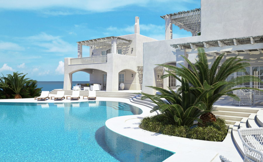 Luxury developments dot the coastline in affluent areas like Porto Heli, making them one of the most desirable types of property in Greece.