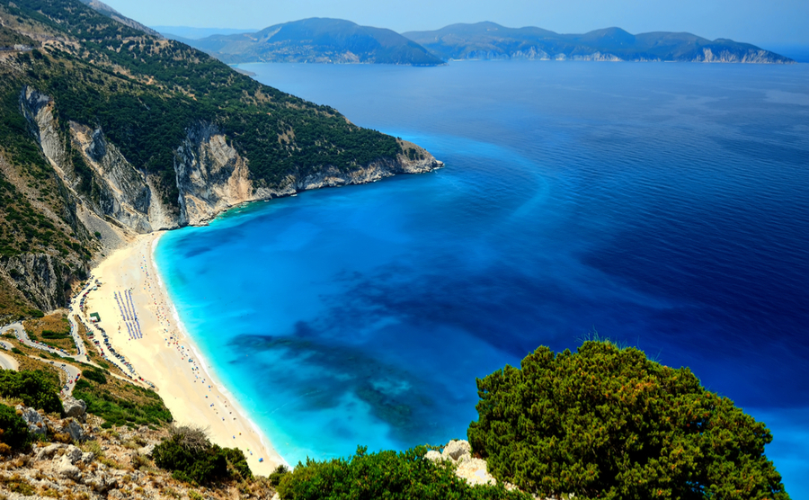 If you're looking to buy in Kefalonia, you'll more than likely have seen Myrtos Beach in brochures and ads.
