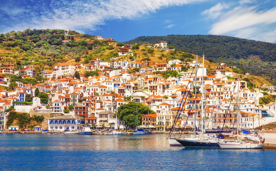 Ready to decide where to buy in Greece? Skopelos is relatively unspoilt, despite being made famous by Mamma Mia!