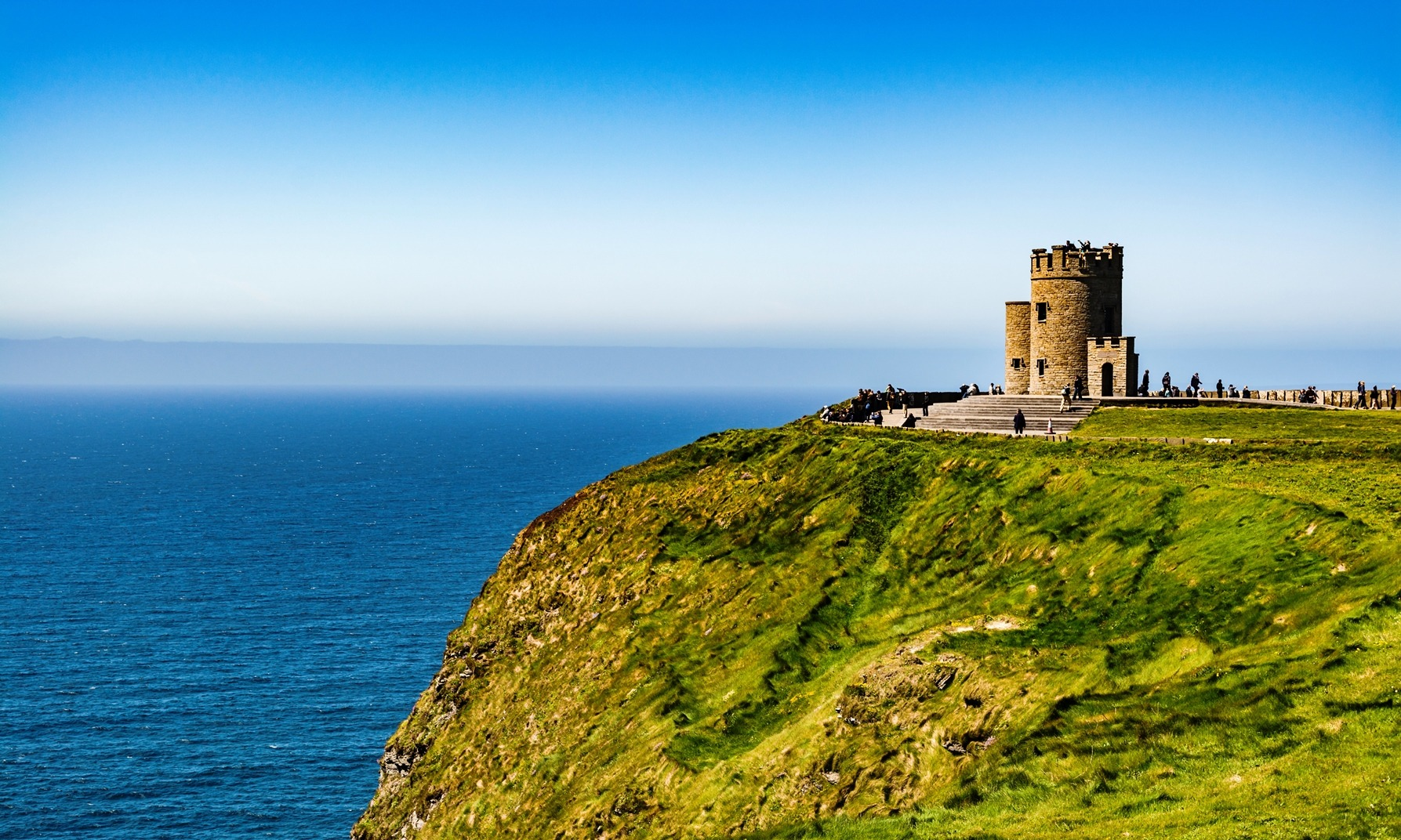 O'Brien's Tower, Cliffs of Moher, on the western coastline of Ireland