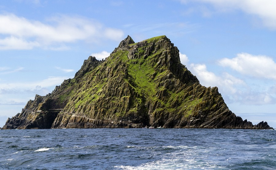 view-of-skellig-michael-historic-monastic-settlement-from-the-water-on-a-day-with-nice-weather
