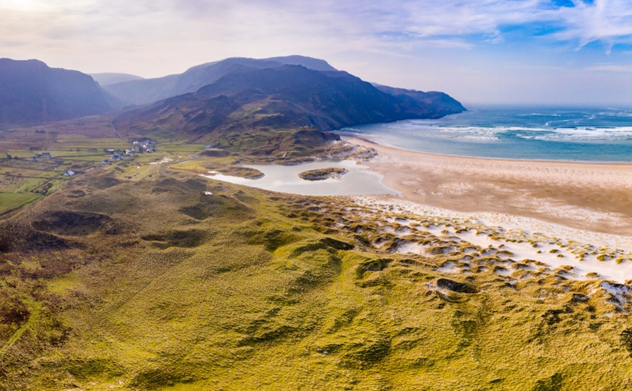Ardara is surrounded by beautiful beaches and countryside.