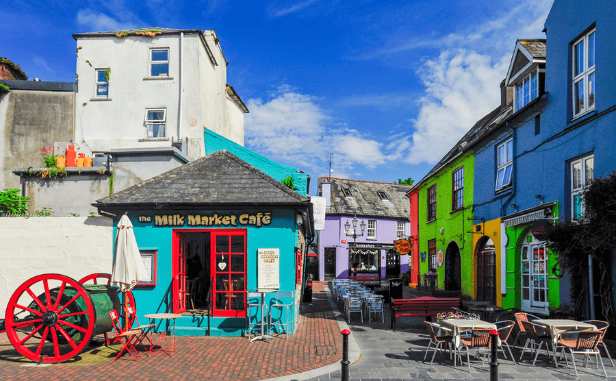 Kinsale is known for its brightly coloured buildings. Tyler W. Stipp / Shutterstock.com
