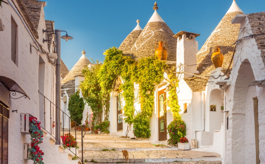The fascinating trulli of Alberobello are popular among overseas buyers.