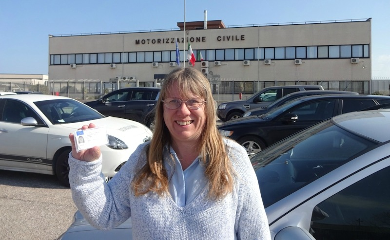 Here I am with my new Italian driving licence! Where I'm going to start driving like an Italian remains to be seen...