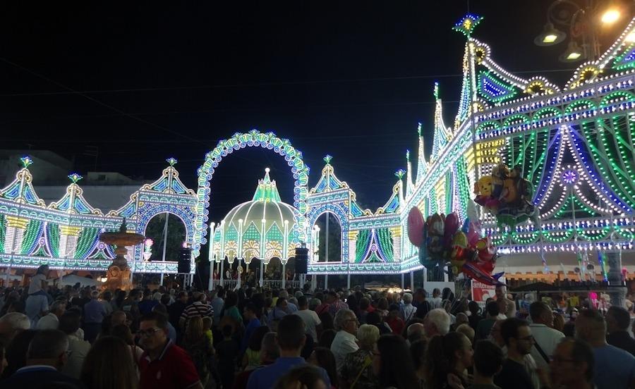 The stunning illuminations in Francavilla.