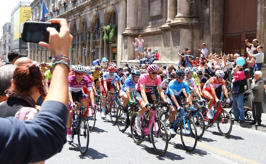 The Giro d'Italia passing through Catania, Sicily. katatonia82 / Shutterstock.com