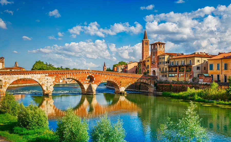 The beautiful city of Verona, in the Veneto.