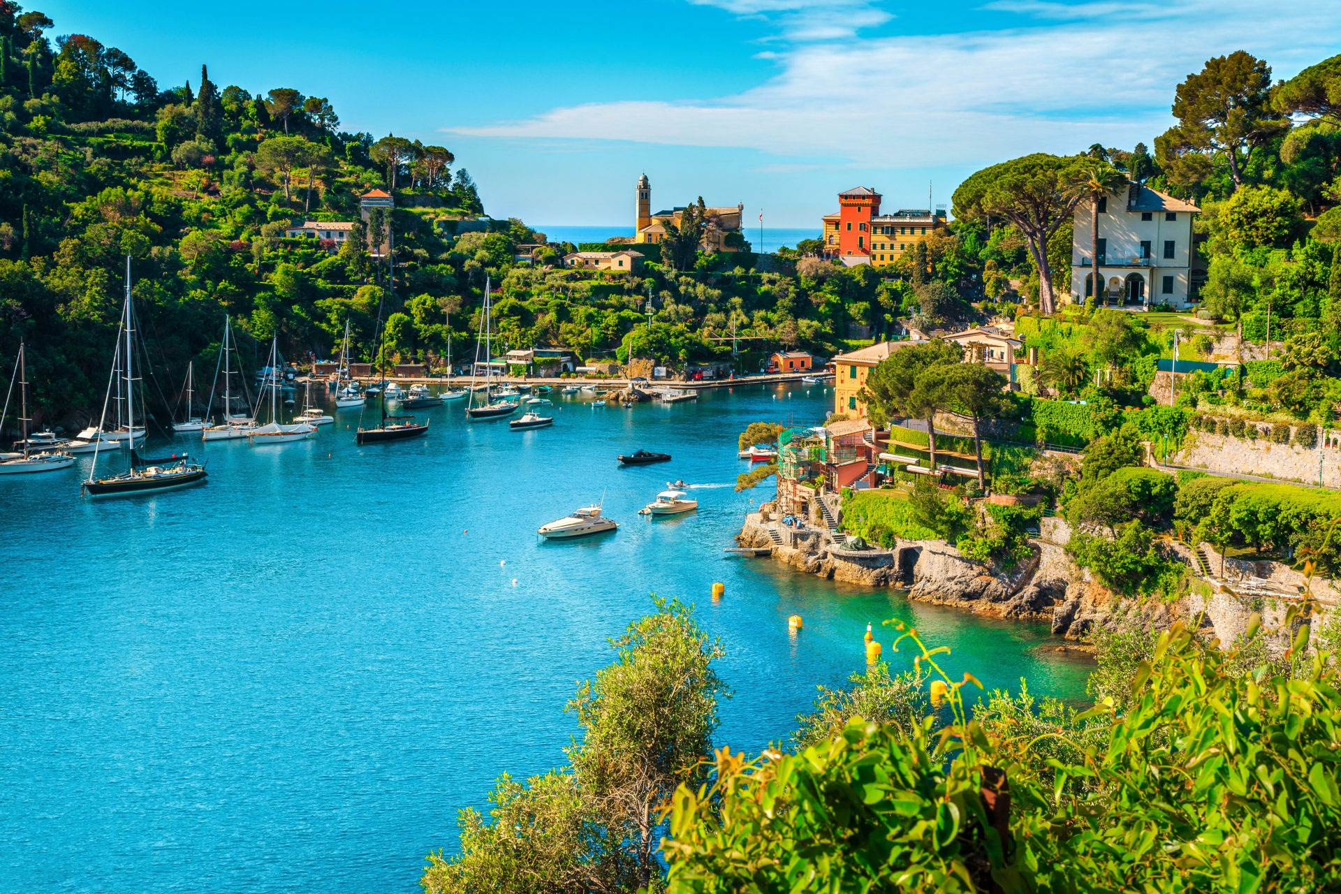 Vacation resort in Portofino, Liguria.
