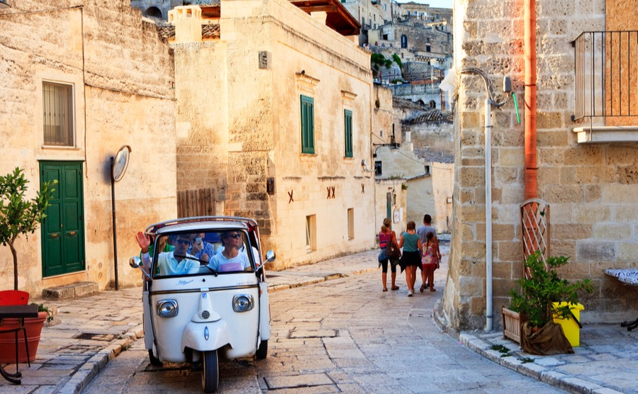 The streets of Matera