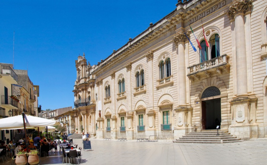 A town hall, where you will get your residence in Italy