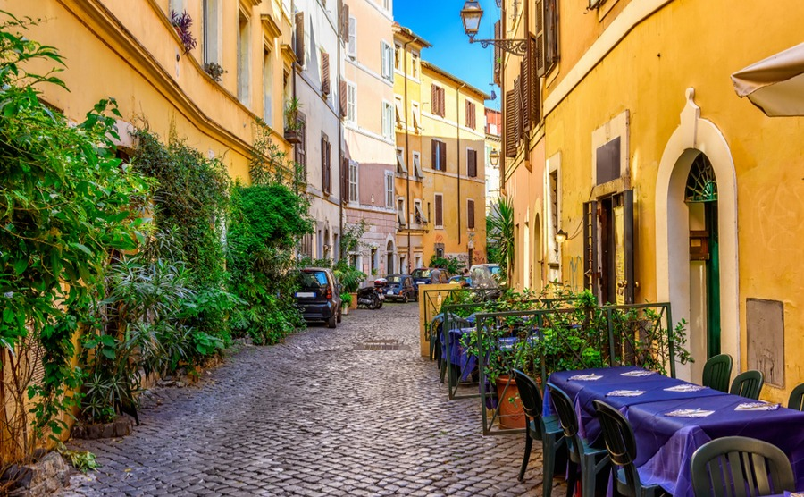 Where could you buy in Italy? Could you see yourself living in Rome's historic districts, like Trastevere here?