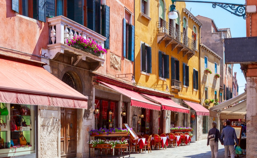 Even a small town in Italy will normally have a good number of local services and eateries. Italian property market in 2019.